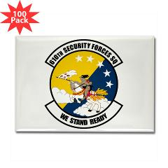 USAF610SS - M01 - 01 - DUI - 610th Security Force Squadron - Rectangle Magnet (100 pack)