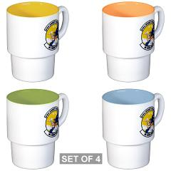 USAF610SS - M01 - 03 - DUI - 610th Security Force Squadron - Stackable Mug Set (4 mugs)