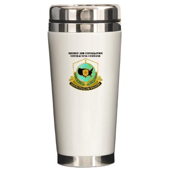 USAMI - M01 - 03 - DUI - USA Mission and Installation Contracting Cmd with text - Ceramic Travel Mug