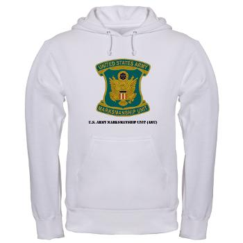USAMU - A01 - 03 - DUI - U.S. Army Marksmanship Unit (AMU) with Text Hooded Sweatshirt