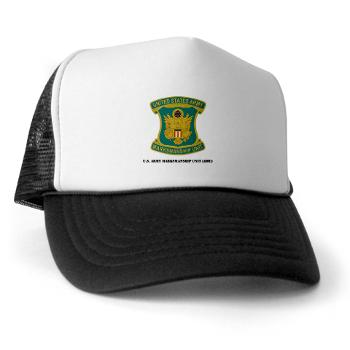 USAMU - A01 - 02 - DUI - U.S. Army Marksmanship Unit (AMU) with Text Trucker Hat