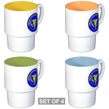 USAR - M01 - 03 - United States Army Reserve - Stackable Mug Set (4 mugs)