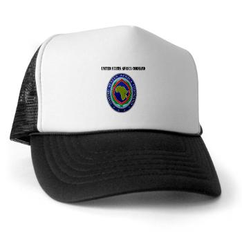 AFRICOM - A01 - 02 - United States Africa Command with Text - Trucker Hat