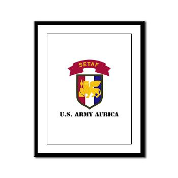 USARAF - M01 - 02 - U.S. Army Africa (USARAF) with Text - Framed Panel Print