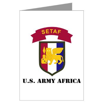 USARAF - M01 - 02 - U.S. Army Africa (USARAF) with Text - Greeting Cards (Pk of 10)