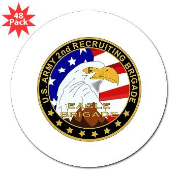 "USAREC2RB - M01 - 01 - 2nd Recruiting Brigade 3"" Lapel Sticker (48 pk)"