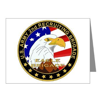 USAREC2RB - M01 - 02 - 2nd Recruiting Brigade Note Cards (Pk of 20)
