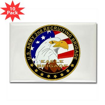 USAREC2RB - M01 - 01 - 2nd Recruiting Brigade Rectangle Magnet (10 pack)