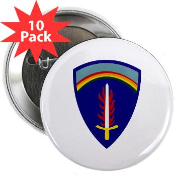 "USAREUR - M01 - 01 - U.S. Army Europe (USAREUR) - 2.25"" Button (10 pack)"