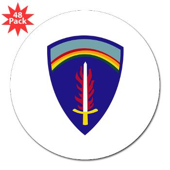 "USAREUR - M01 - 01 - U.S. Army Europe (USAREUR) - 3"" Lapel Sticker (48 pk)"