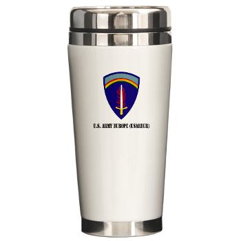 USAREUR - M01 - 03 - U.S. Army Europe (USAREUR) with Text - Ceramic Travel MugUSAREUR - M01 - 03 - U.S. Army Europe (USAREUR) with Text - Ceramic Travel Mug