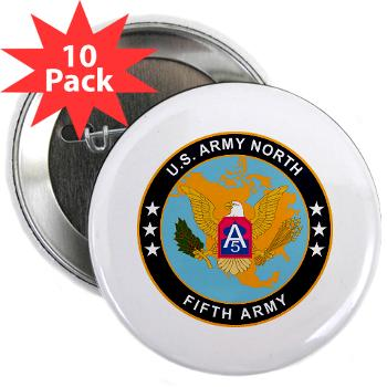 "USARNORTH - M01 - 01 - U.S. Army North (USARNORTH) - 2.25"" Button (10 pack)"