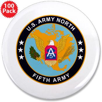 "USARNORTH - M01 - 01 - U.S. Army North (USARNORTH) - 3.5"" Button (100 pack)"