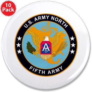 "USARNORTH - M01 - 01 - U.S. Army North (USARNORTH) - 3.5"" Button (10 pack)"