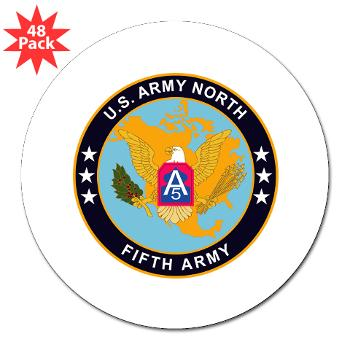 "USARNORTH - M01 - 01 - U.S. Army North (USARNORTH) - 3"" Lapel Sticker (48 pk)"