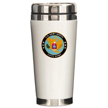 USARNORTH - M01 - 03 - U.S. Army North (USARNORTH) - Ceramic Travel Mug