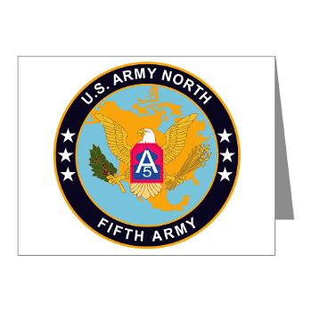 USARNORTH - M01 - 02 - U.S. Army North (USARNORTH) - Note Cards (Pk of 20)