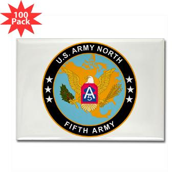 USARNORTH - M01 - 01 - U.S. Army North (USARNORTH) - Rectangle Magnet (100 pack)