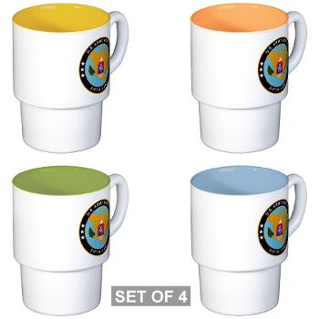 USARNORTH - M01 - 03 - U.S. Army North (USARNORTH) - Stackable Mug Set (4 mugs)