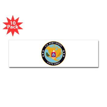 USARNORTH - M01 - 01 - U.S. Army North (USARNORTH) - Sticker (Bumper 10 pk)