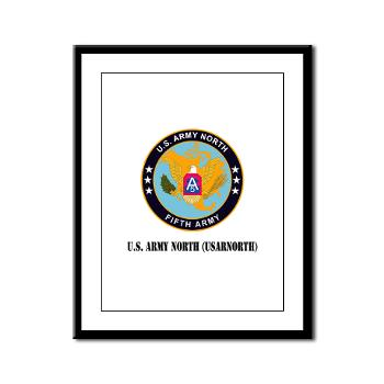 USARNORTH - M01 - 02 - U.S. Army North (USARNORTH) with Text - Framed Panel Print