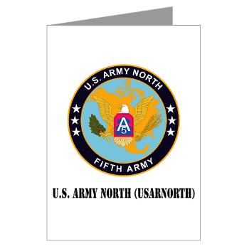USARNORTH - M01 - 02 - U.S. Army North (USARNORTH) with Text - Greeting Cards (Pk of 10)