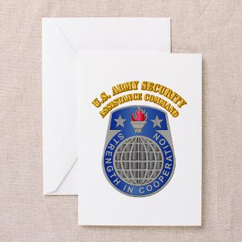USASAC - M01 - 02 - U.S. Army Security Assistance Command with Text - Greeting Cards (Pk of 10)