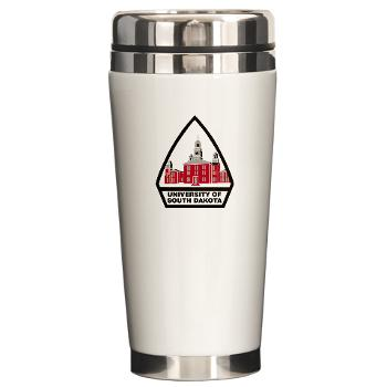 USD - M01 - 03 - SSI - ROTC - University of South Dakota - Ceramic Travel Mug