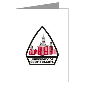 USD - M01 - 02 - SSI - ROTC - University of South Dakota - Greeting Cards (Pk of 20)