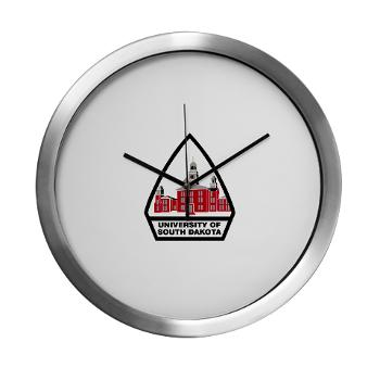 USD - M01 - 03 - SSI - ROTC - University of South Dakota - Modern Wall Clock
