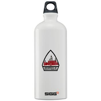 USD - M01 - 03 - SSI - ROTC - University of South Dakota - Sigg Water Bottle 1.0L