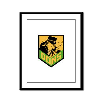 USF - M01 - 02 - SSI - ROTC - University of San Francisco - Framed Panel Print