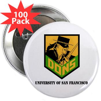 "USF - M01 - 01 - SSI - ROTC - University of San Francisco with Text - 2.25"" Button (100 pack)"