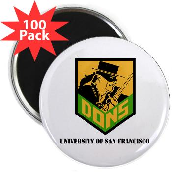 "USF - M01 - 01 - SSI - ROTC - University of San Francisco with Text - 2.25"" Magnet (100 pack)"