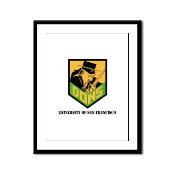 USF - M01 - 02 - SSI - ROTC - University of San Francisco with Text - Framed Panel Print