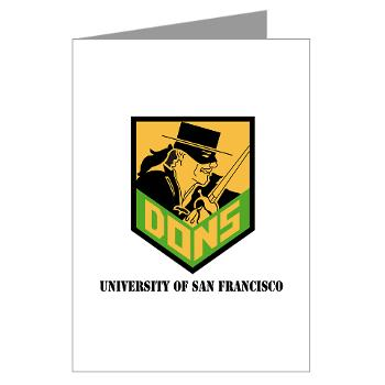 USF - M01 - 02 - SSI - ROTC - University of San Francisco with Text - Greeting Cards (Pk of 20)