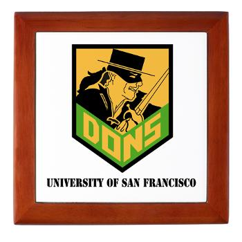 USF - M01 - 03 - SSI - ROTC - University of San Francisco with Text - Keepsake Box