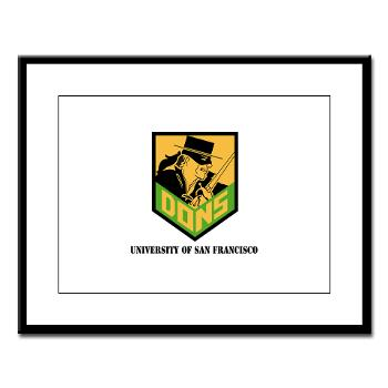 USF - M01 - 02 - SSI - ROTC - University of San Francisco with Text - Large Framed Print