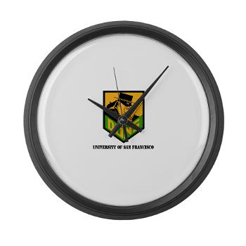 USF - M01 - 03 - SSI - ROTC - University of San Francisco with Text - Large Wall Clock