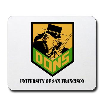 USF - M01 - 03 - SSI - ROTC - University of San Francisco with Text - Mousepad