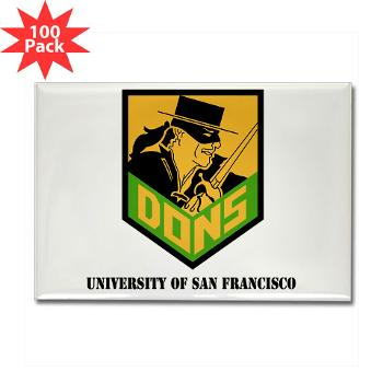 USF - M01 - 01 - SSI - ROTC - University of San Francisco with Text - Rectangle Magnet (100 pack)