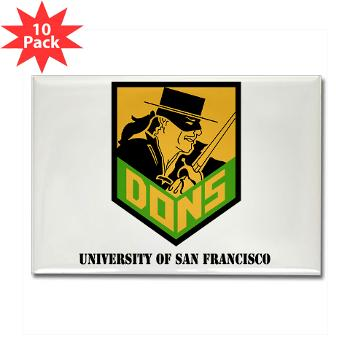 USF - M01 - 01 - SSI - ROTC - University of San Francisco with Text - Rectangle Magnet (10 pack)