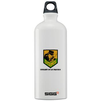USF - M01 - 03 - SSI - ROTC - University of San Francisco with Text - Sigg Water Bottle 1.0L