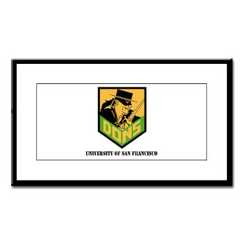 USF - M01 - 02 - SSI - ROTC - University of San Francisco with Text - Small Framed Print