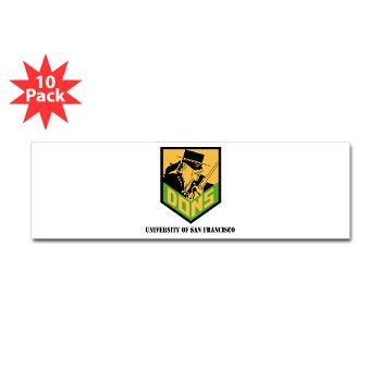 USF - M01 - 01 - SSI - ROTC - University of San Francisco with Text - Sticker (Bumper 10 pk)