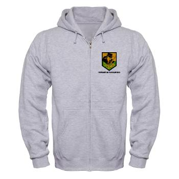 USF - A01 - 03 - SSI - ROTC - University of San Francisco with Text - Zip Hoodie