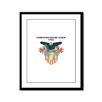 USMA - M01 - 02 - United States Military Academy (USMA) with Text - Framed Panel Print