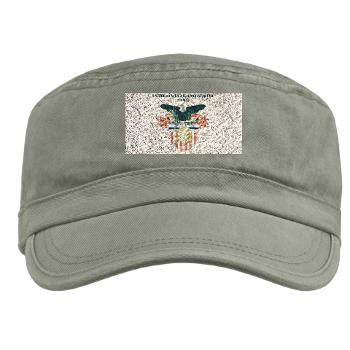 USMA - A01 - 01 - United States Military Academy (USMA) with Text - Military Cap