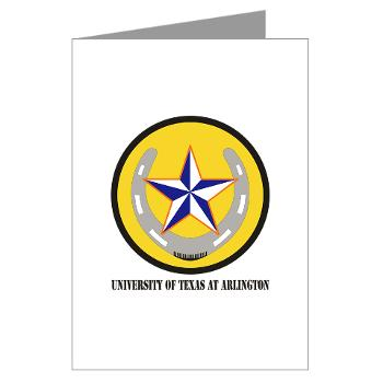 UTA - M01 - 02 - SSI - ROTC - University of Texas at Arlington with Text - Greeting Cards (Pk of 10)
