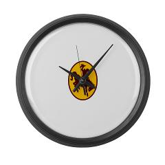 UW - M01 - 03 - SSI - ROTC - University of Wyoming - Large Wall Clock